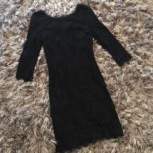 Aritzia Babaton zarita Lace Dress Size 4 Black BD
